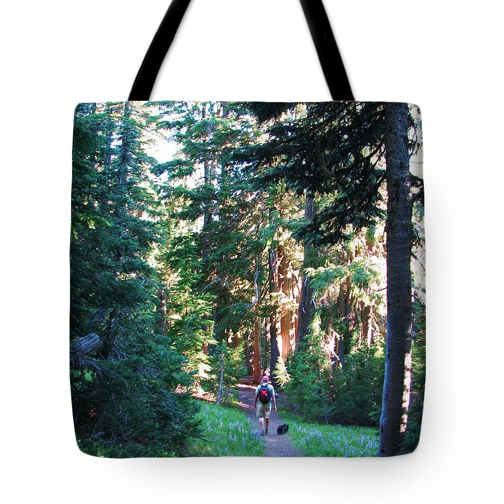 Cascade Mountians Tote Bag featuring the photograph On A Hike by Michele Penner