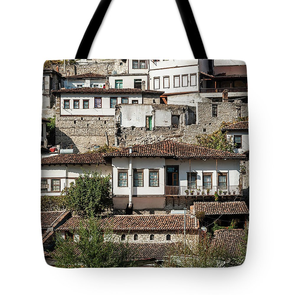Albania Tote Bag featuring the photograph Ottoman Architecture View In Historic Berat Old Town Albania by Jacek Malipan