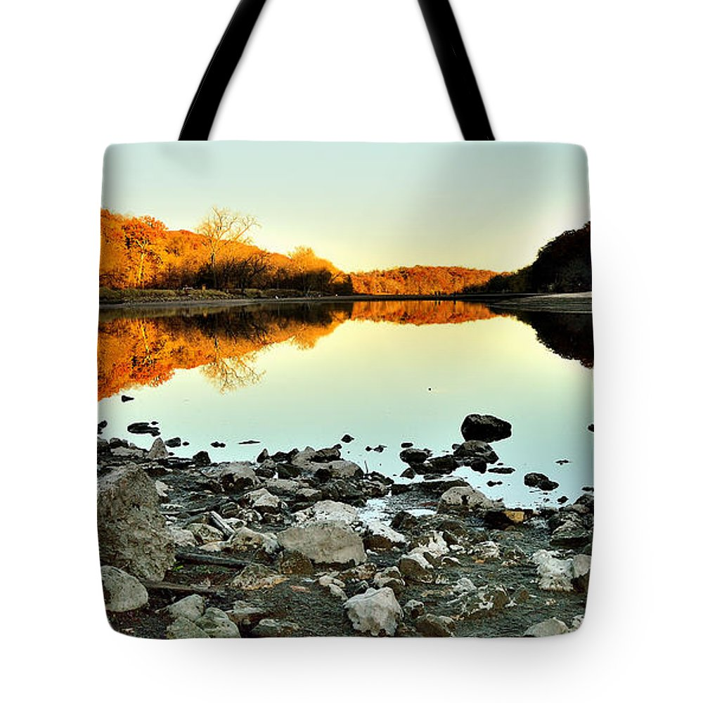Landscape Tote Bag featuring the photograph Palisades-kepler State Park - Mt. Vernon, Ia by Sherri Hasley