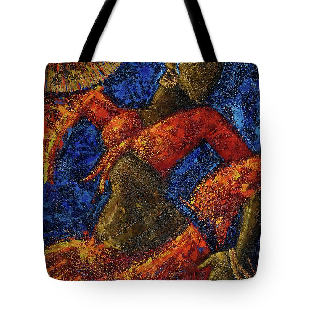 Dancer Tote Bag featuring the painting Passion by Oscar Ortiz