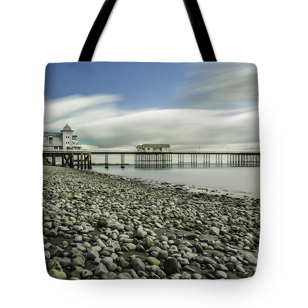Penarth Pier Tote Bag featuring the photograph Penarth Pier 6 by Steve Purnell
