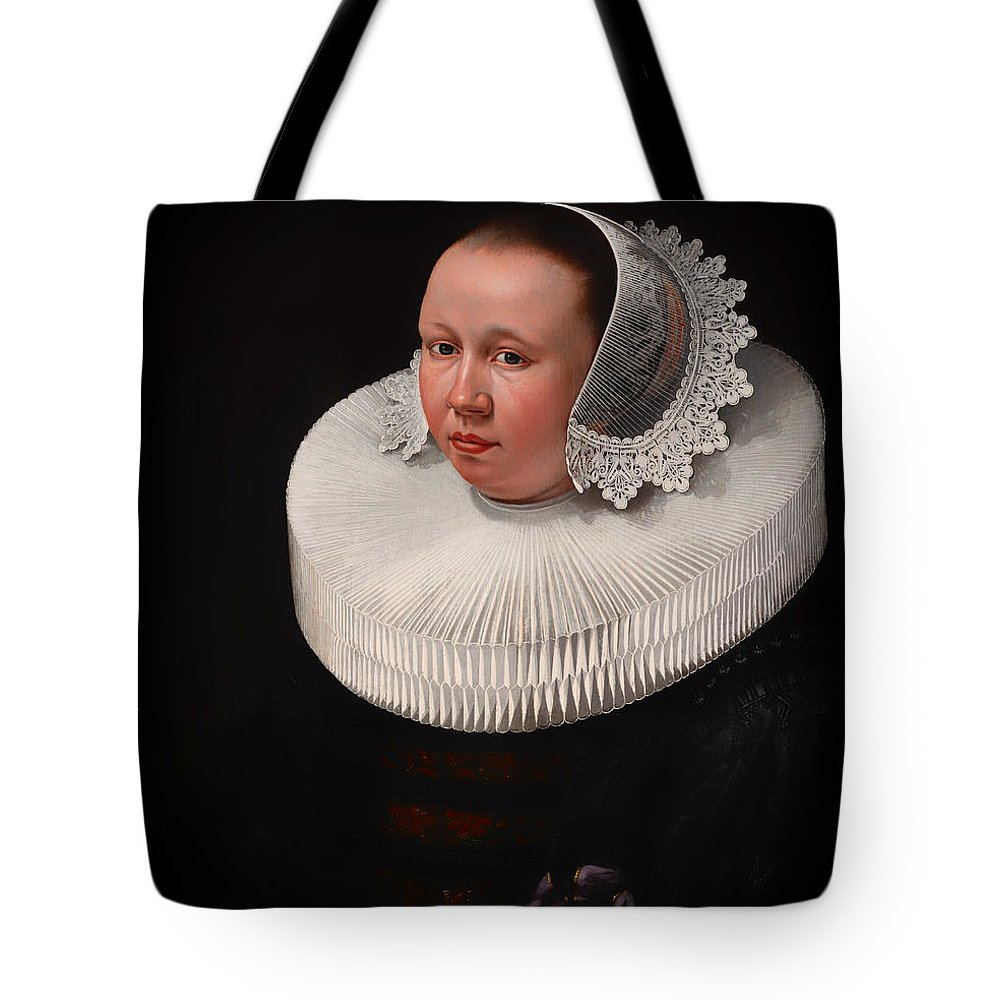 Painting Tote Bag featuring the painting Portrait Of A Woman by Mountain Dreams