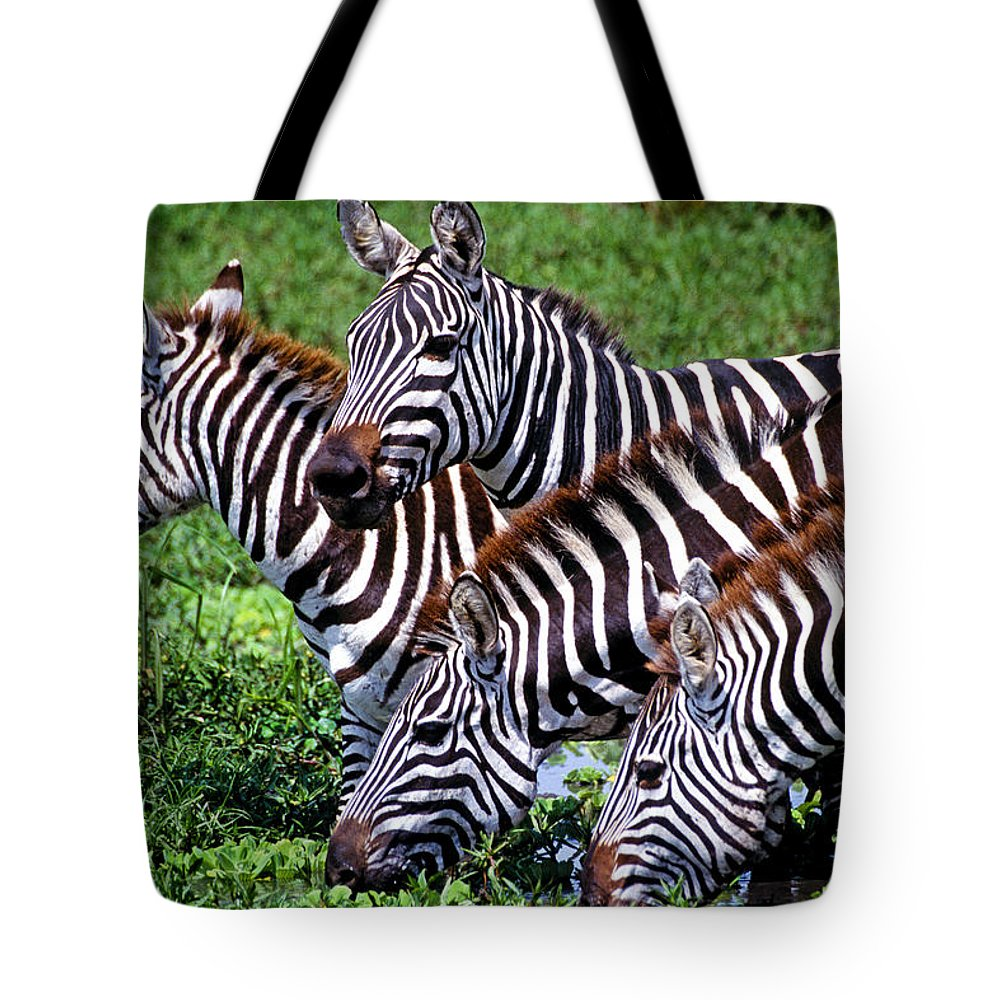 Africa Tote Bag featuring the photograph Quenching Their Thirst by Michele Burgess