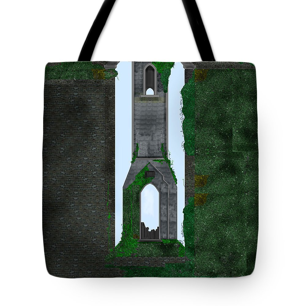 Ireland Tote Bag featuring the painting Quint Arches In Ireland by Anne Norskog