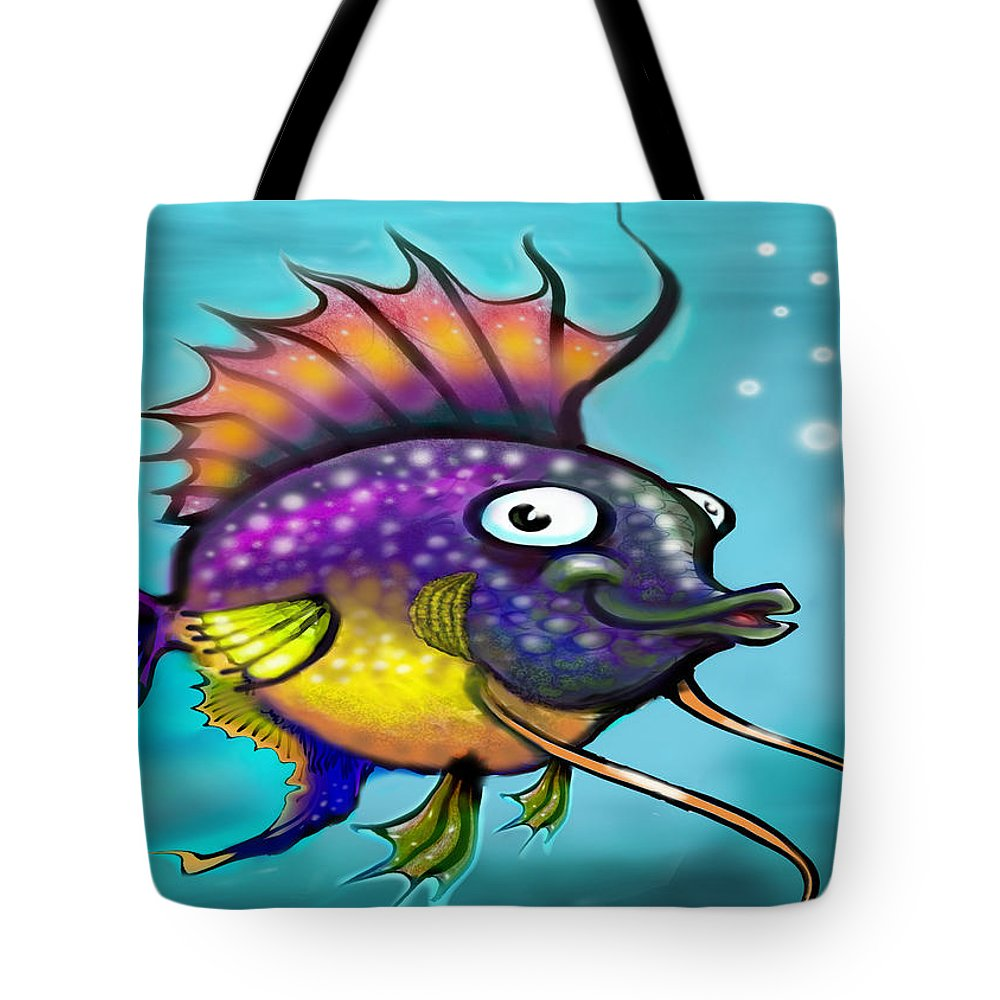 Rainbow Tote Bag featuring the painting Rainbow Fish by Kevin Middleton