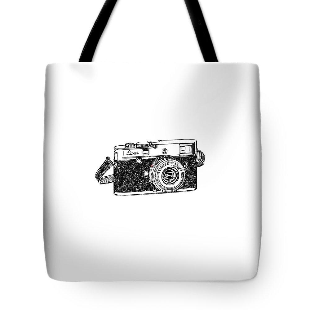 Analog Tote Bag featuring the digital art Rangefinder Camera by Setsiri Silapasuwanchai