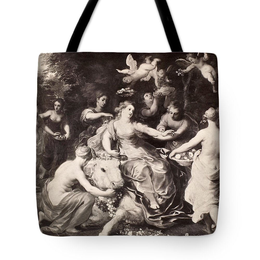Abduction Tote Bag featuring the painting Rape Of Europa by Granger