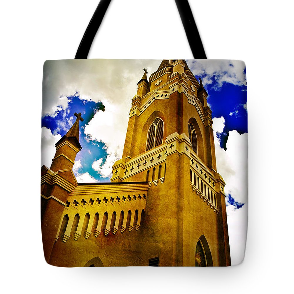 Church Tote Bag featuring the photograph Reaching For The Heavens by Scott Pellegrin