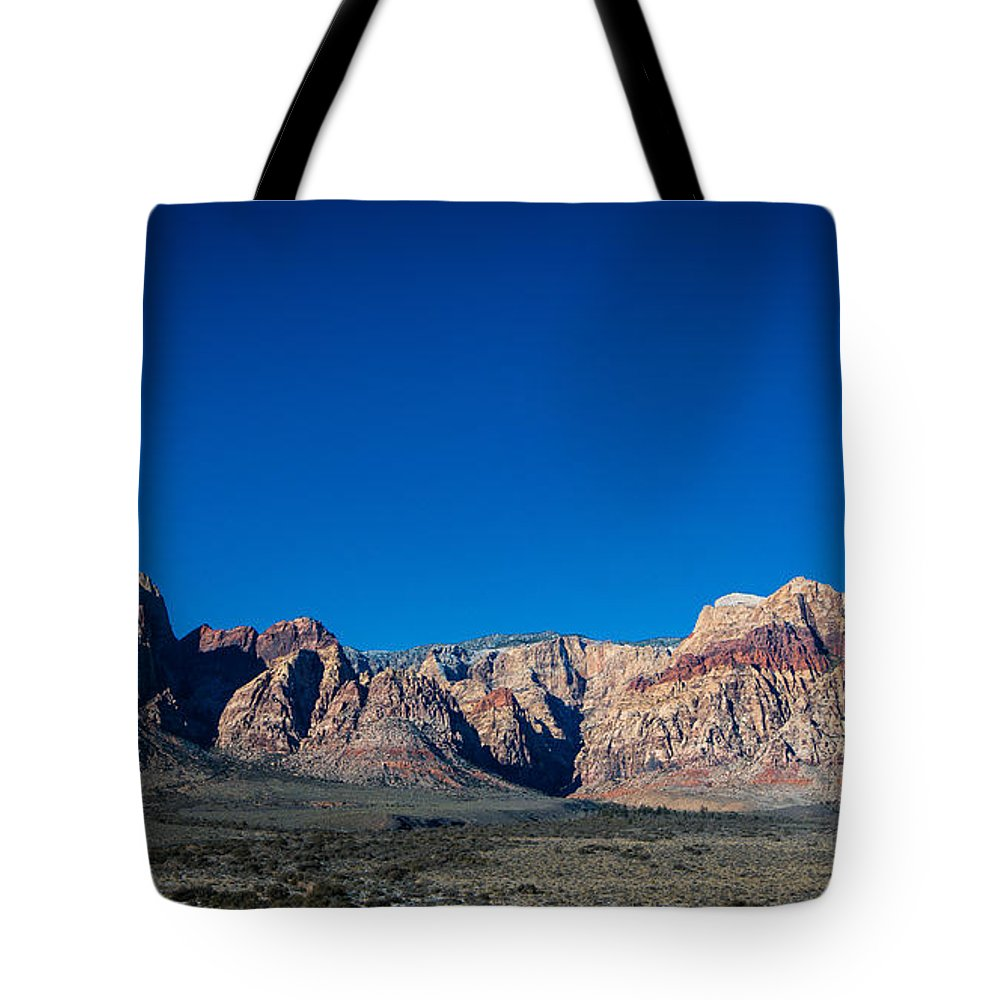 Desert Tote Bag featuring the photograph Red Rock Canyon by Rockland Filmworks