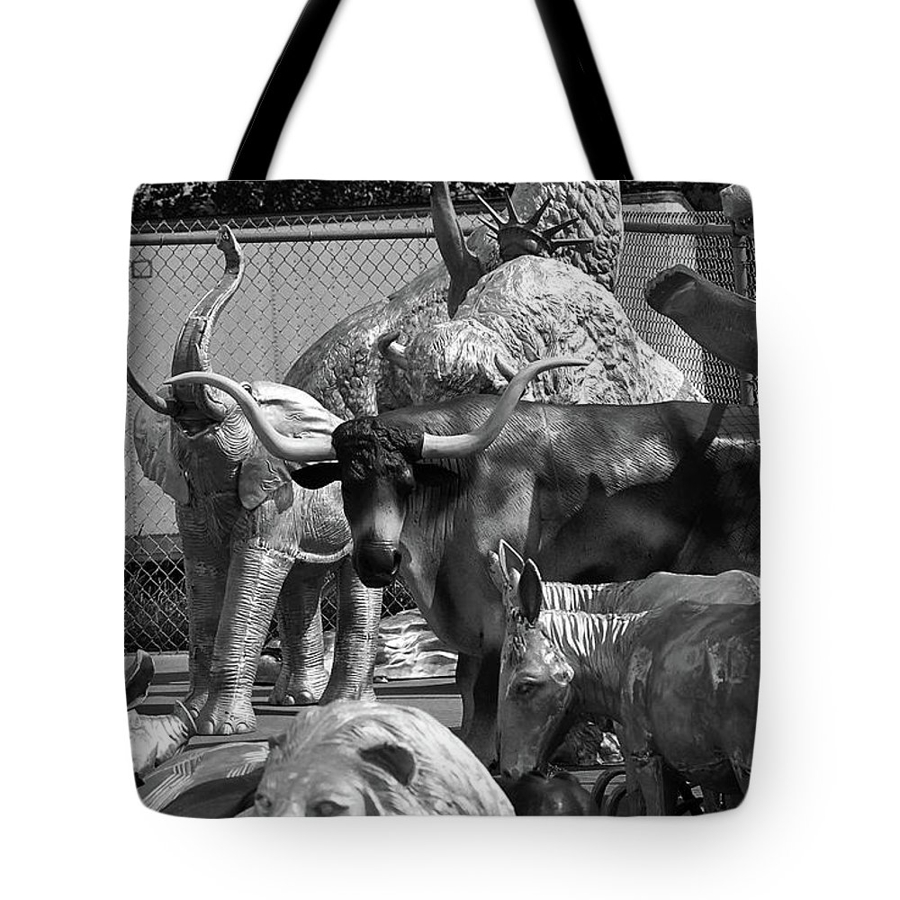 66 Tote Bag featuring the photograph Route 66 - Mule Trading Post by Frank Romeo
