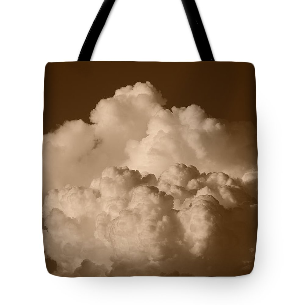 Sepia Tote Bag featuring the photograph Sepia Clouds by Rob Hans
