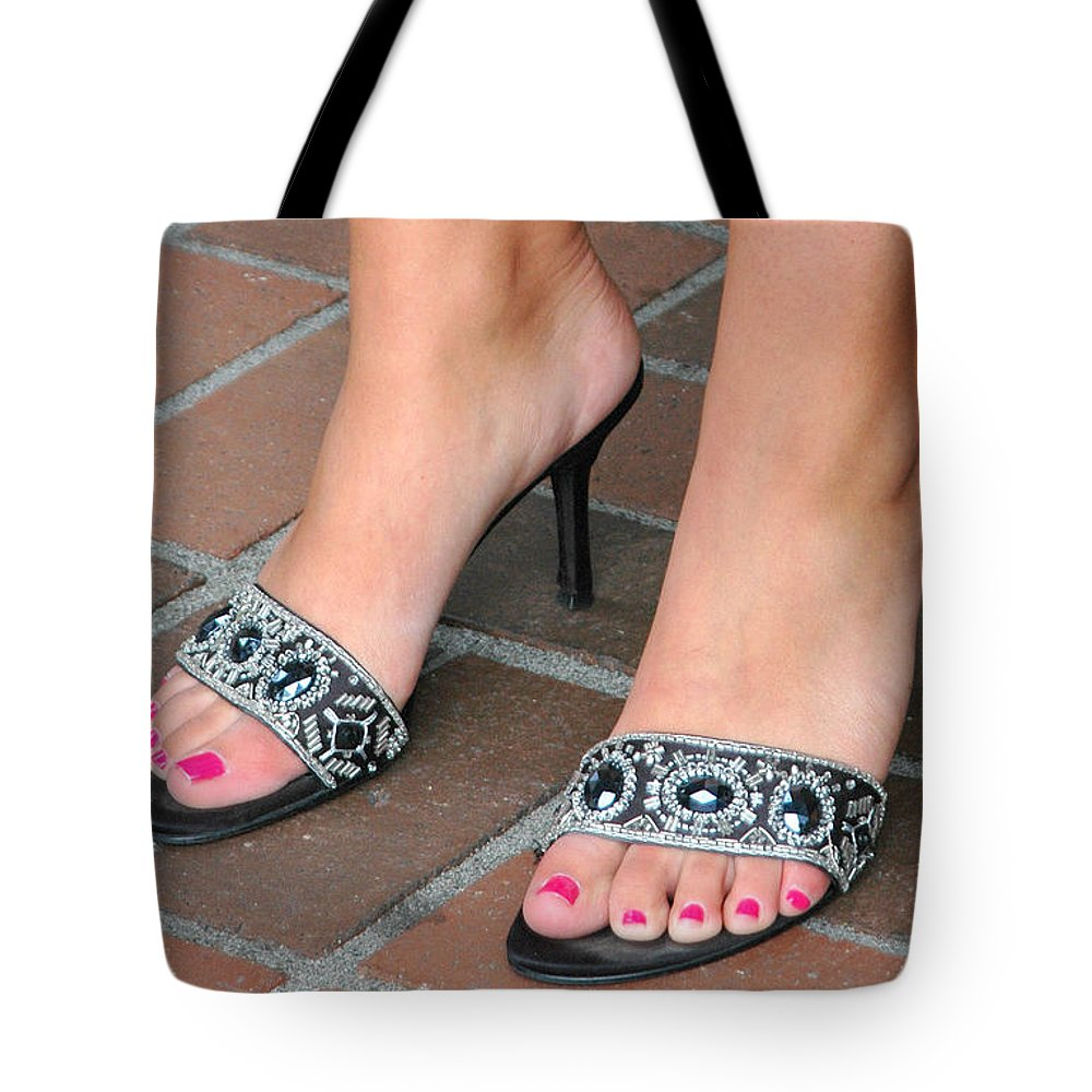 Female Tote Bag Featuring The Photograph Sexy Feet By Oscar Williams