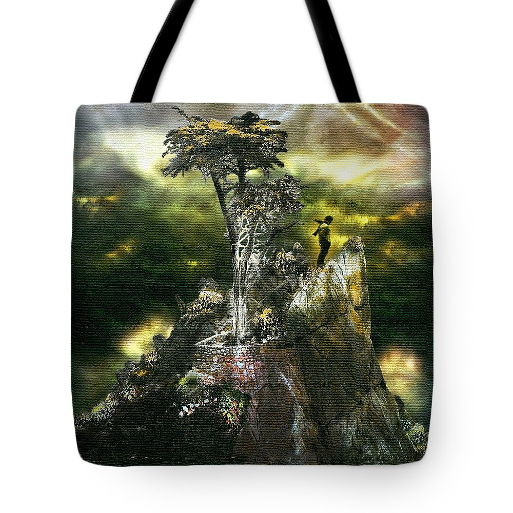 Digital Art Tote Bag featuring the drawing Stand Alone by Humera Firdous