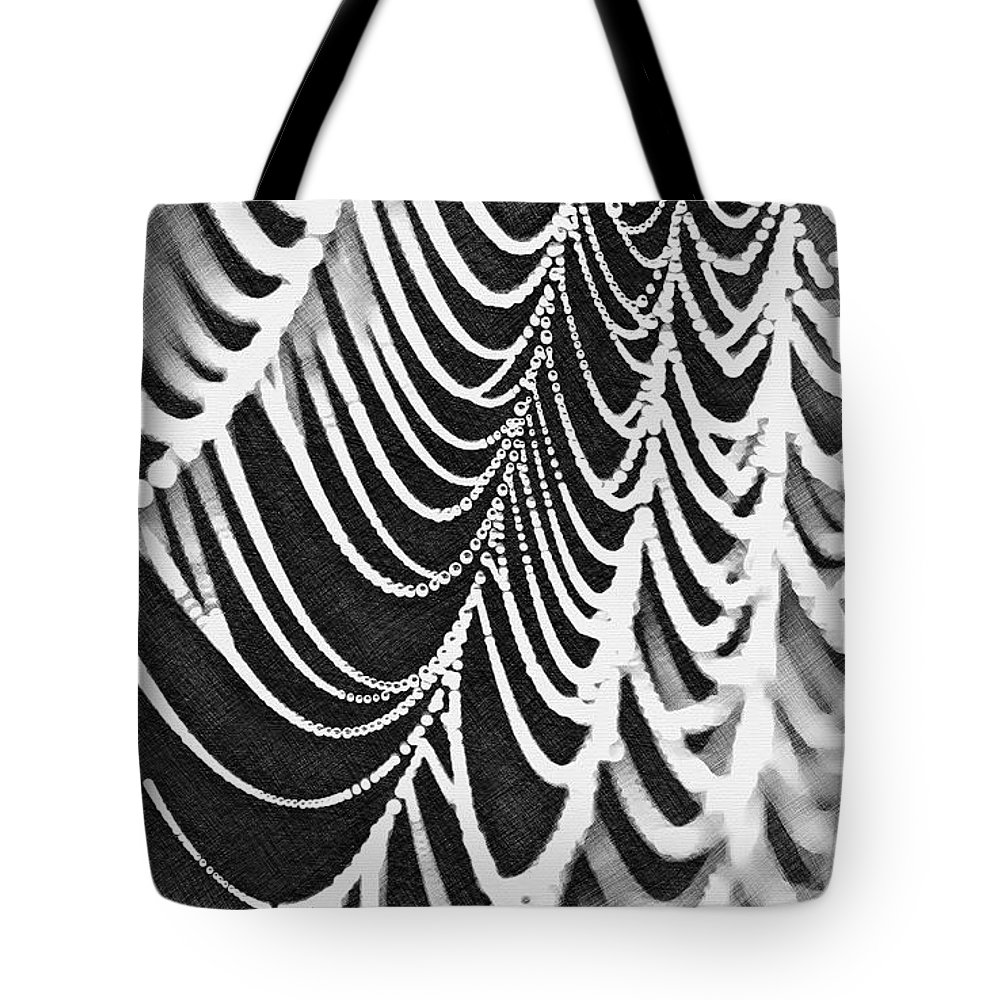 Spider Web Tote Bag featuring the digital art Spider Web by Lora Battle