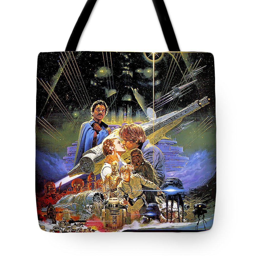 Star Wars Tote Bag featuring the digital art Star Wars Episode V - The Empire Strikes Back 1980 by Geek N Rock
