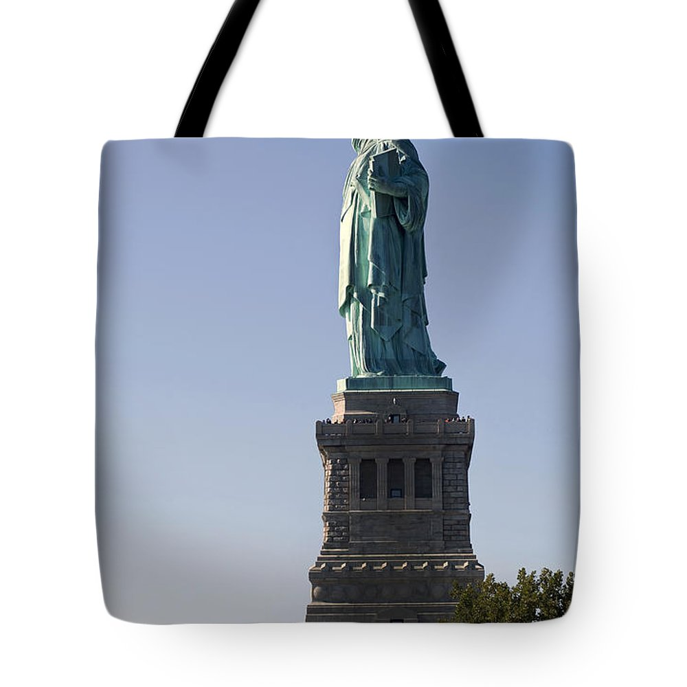 Usa Tote Bag featuring the photograph Statue Of Liberty. by W Scott McGill