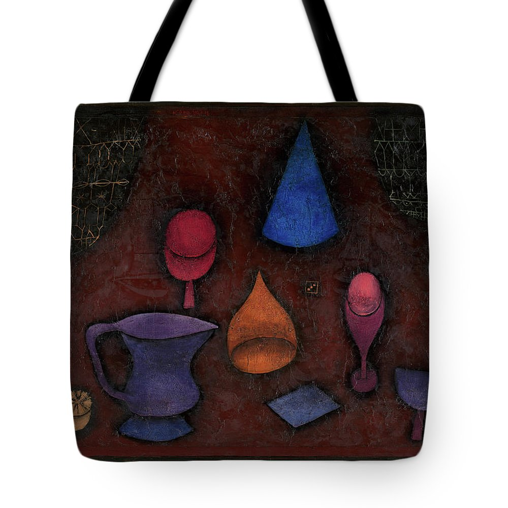 Paul Klee Still Life Tote Bag featuring the painting Still Life by Paul Klee