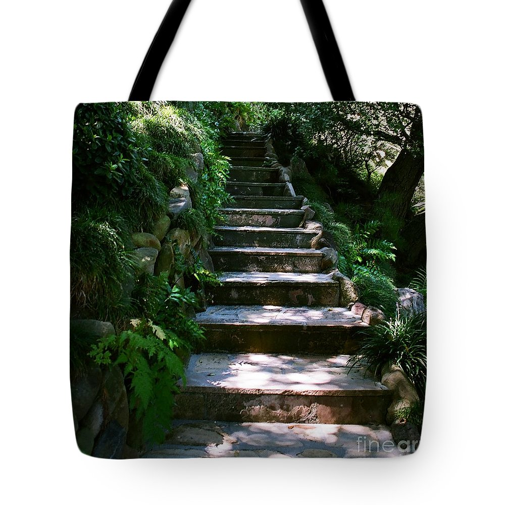 Nature Tote Bag featuring the photograph Stone Steps by Dean Triolo