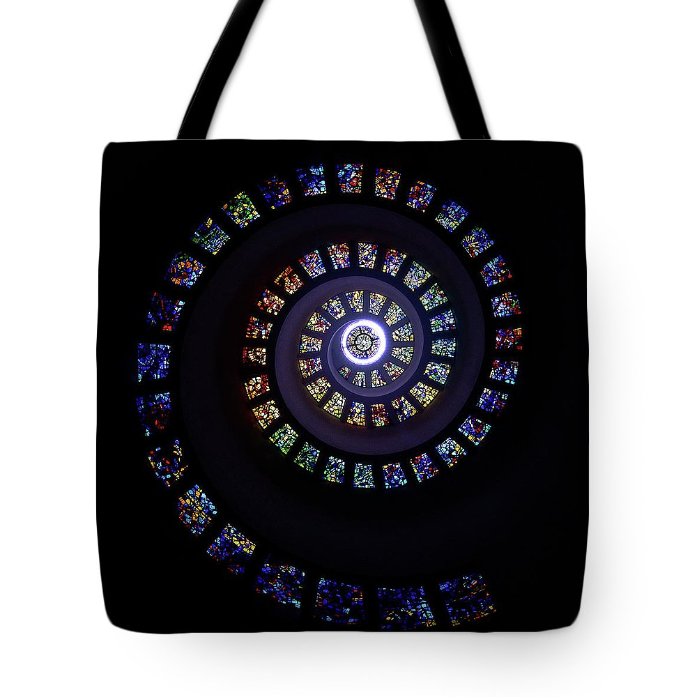 Stained Glass Tote Bag featuring the photograph Colorful String Of Diamonds by Janet Chung