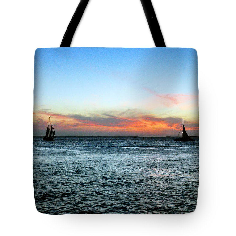 Key West Florida Tote Bag featuring the photograph Sunset Key West by Davids Digits