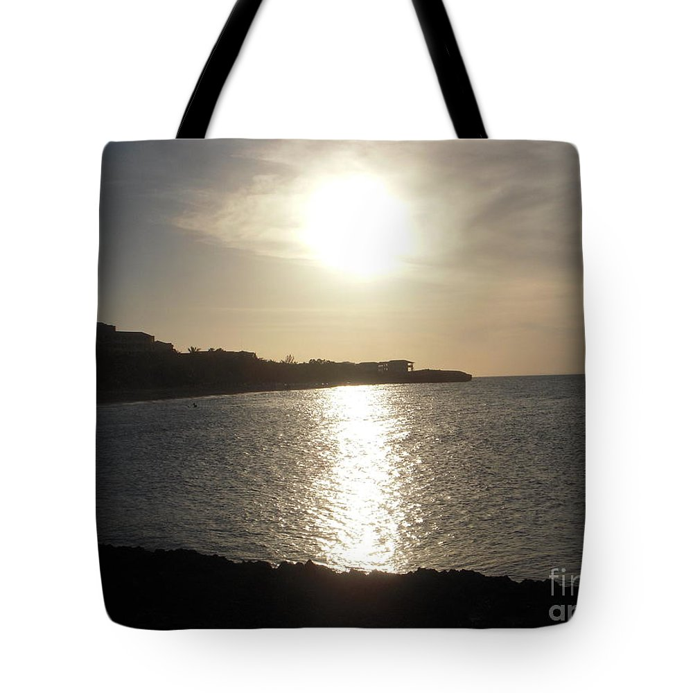 Sunset Tote Bag featuring the photograph Sunset by Vesna Antic