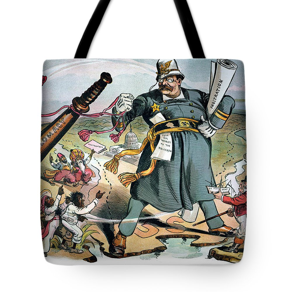 1905 Tote Bag featuring the photograph T. Roosevelt Cartoon by Granger
