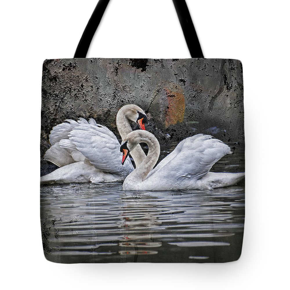 Swan Tote Bag featuring the photograph Tango Of The Swans by Joachim G Pinkawa