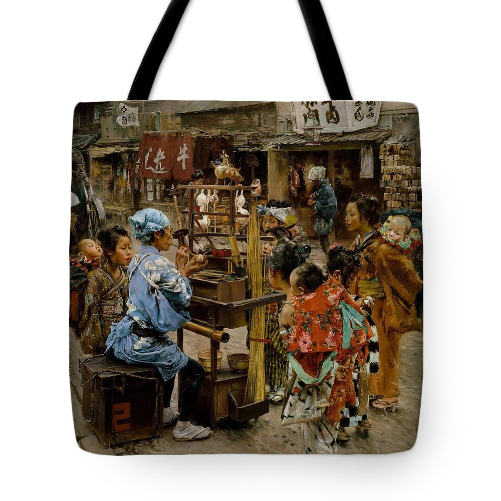 Robert Frederick Blum The Ameya Tote Bag featuring the painting The Ameya by Robert Frederick Blum