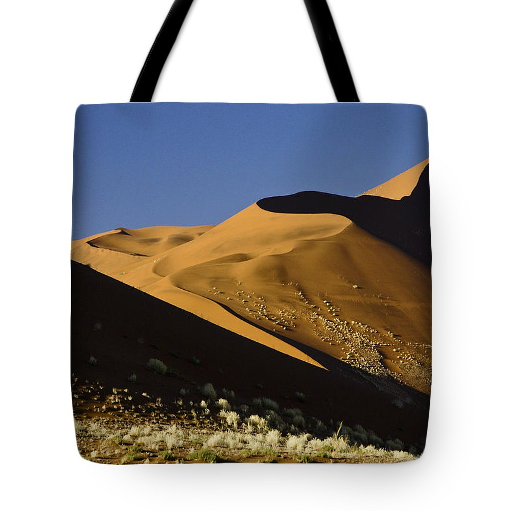 Africa Tote Bag featuring the photograph The Dunes Of Sossusvlei by Michele Burgess