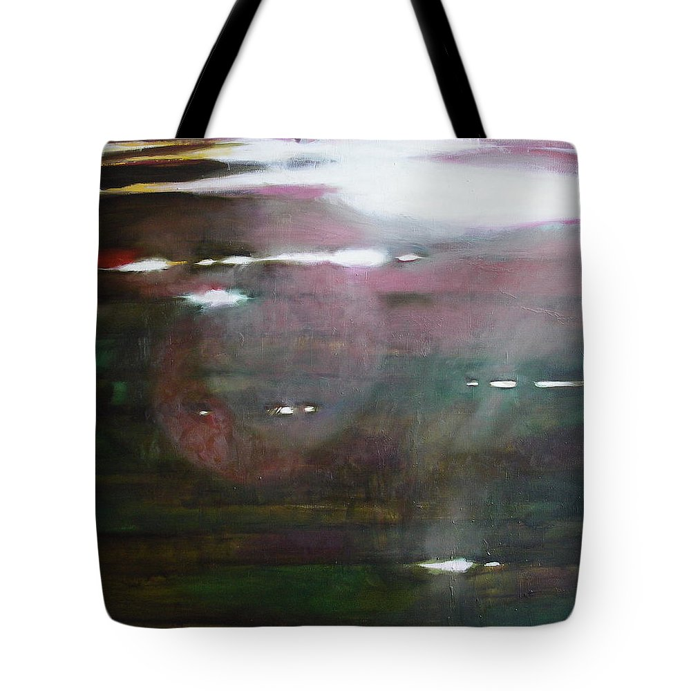 Oil Tote Bag featuring the painting The Parallel World by Sergey Ignatenko