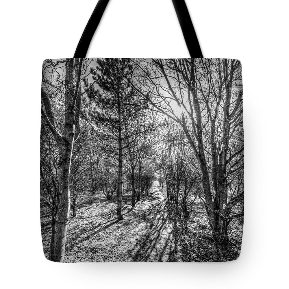 Watercolor Tote Bag featuring the photograph The Peaceful Forest by David Pyatt