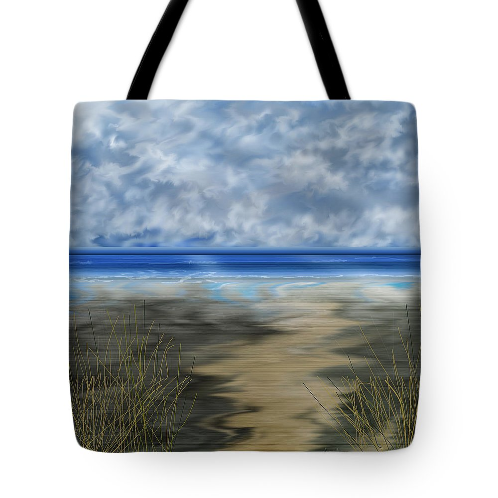 Anne Norskog Tote Bag featuring the painting The Road Less Travelled by Anne Norskog