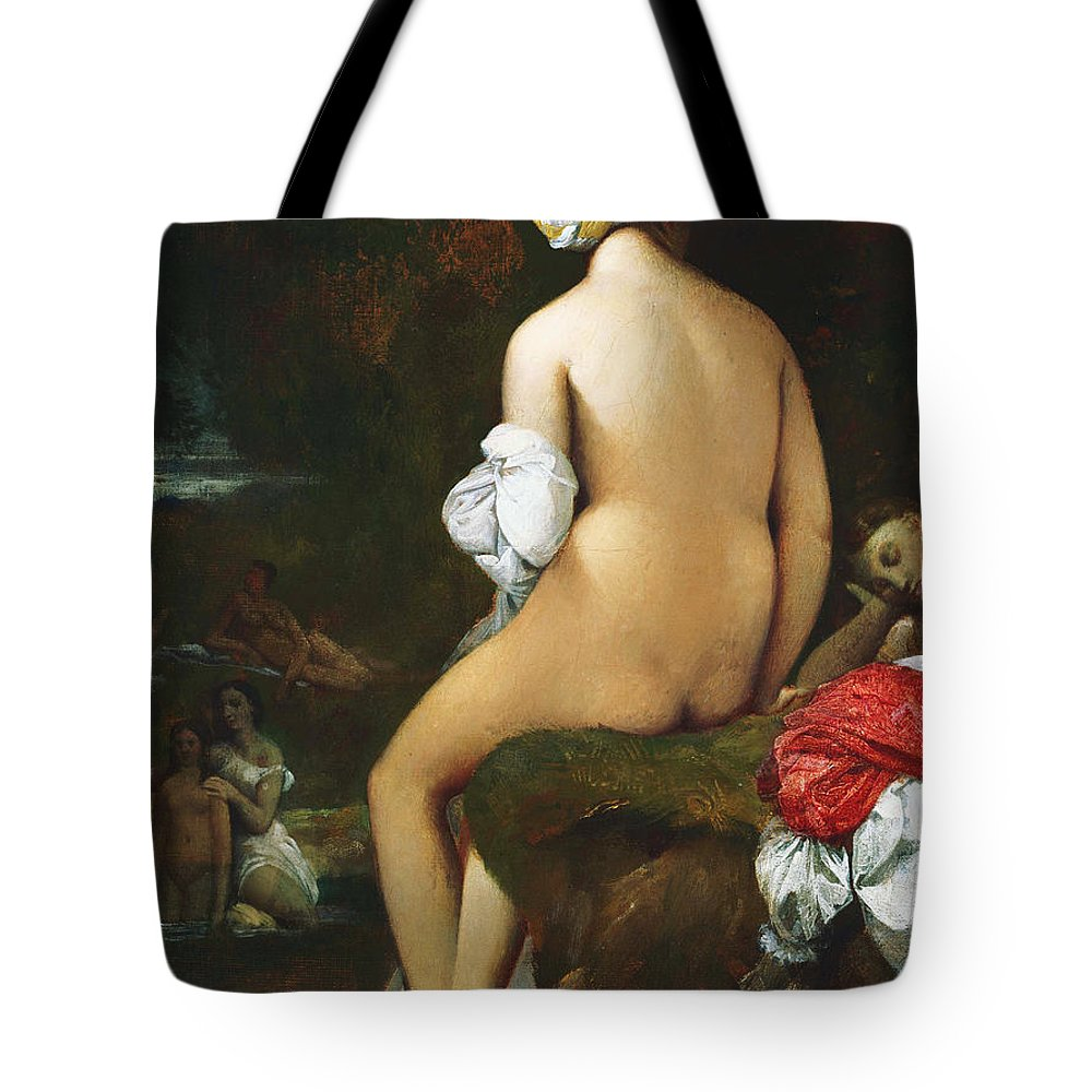 Bathers Tote Bag featuring the painting The Small Bather by Jean-Auguste-Dominique Ingres