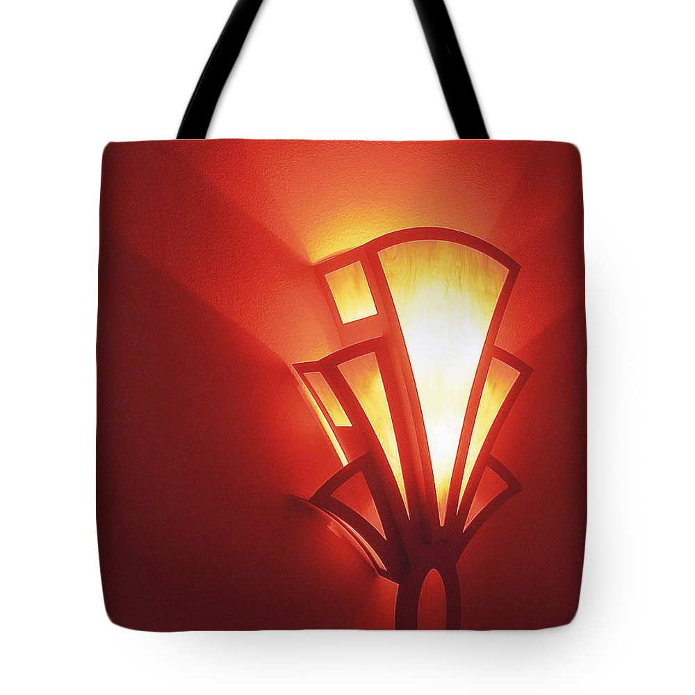 Theater Homage Art Deco Lighting Fixture Fox Tucson Tucson Arizona 2006 Grand Reopening Tote Bag featuring the photograph Theater Homage Art Deco Lighting Fixture Fox Tucson Tucson Arizona 2006 Grand Reopening by David Lee Guss