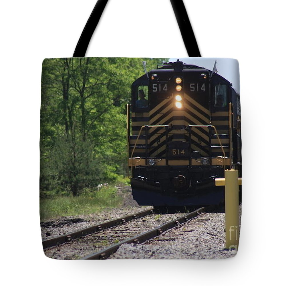 Trains Tote Bag featuring the photograph Trains by William Rogers