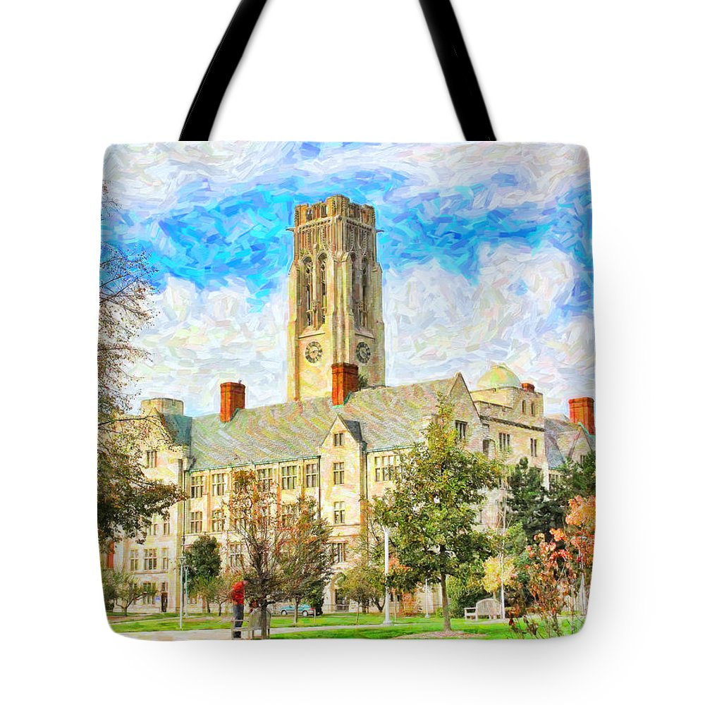 University Hall Tote Bag featuring the photograph University Hall by Jack Schultz