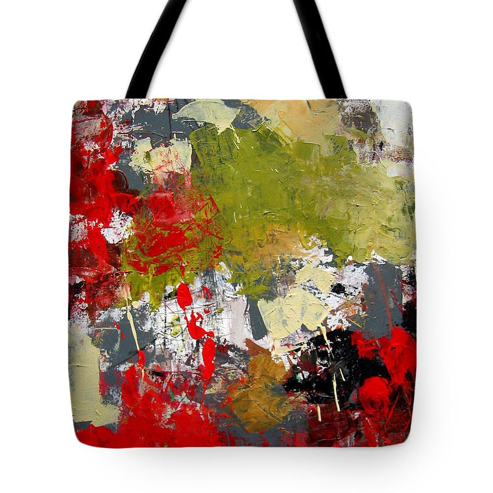 Abstract Art Tote Bag featuring the painting Untitled by Diane Desrochers