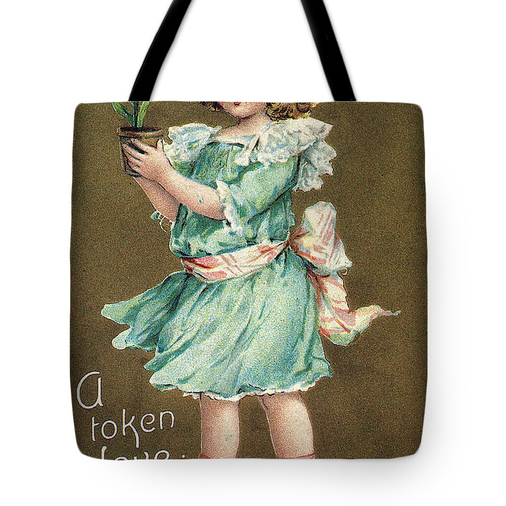 1908 Tote Bag featuring the photograph Valentines Day Card by Granger