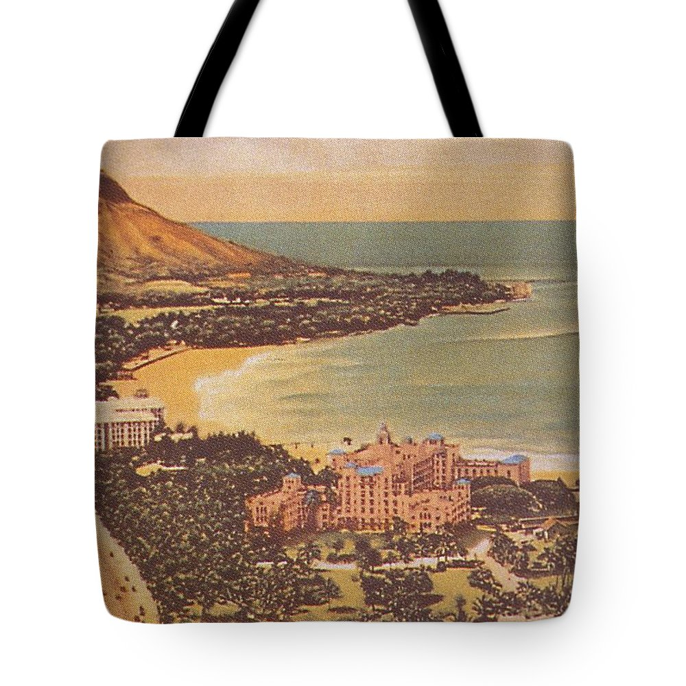 1930 Tote Bag featuring the painting Vintage Hawaiian Art by Hawaiian Legacy Archive - Printscapes