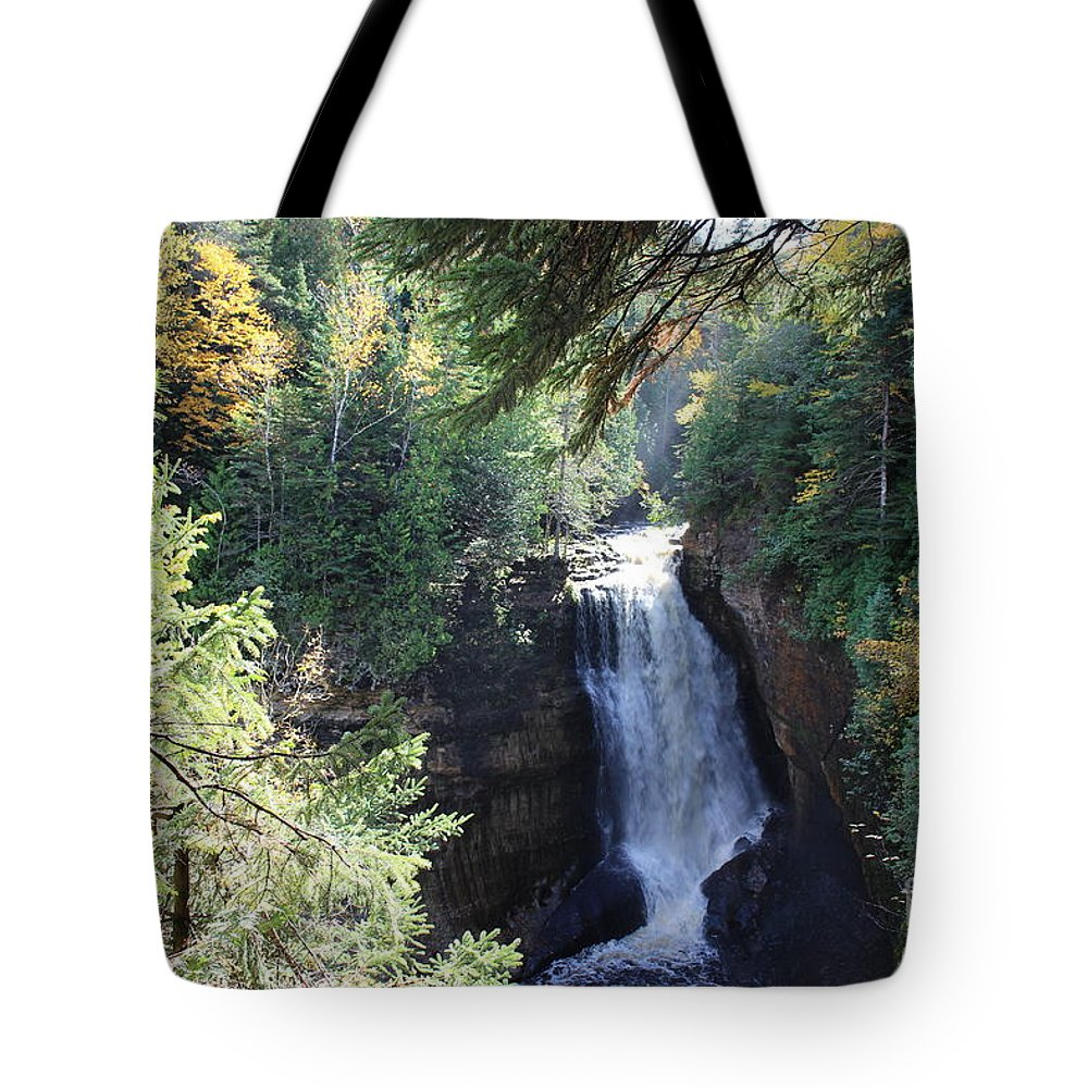 Water Tote Bag featuring the photograph Waterfall by Brenda Ackerman
