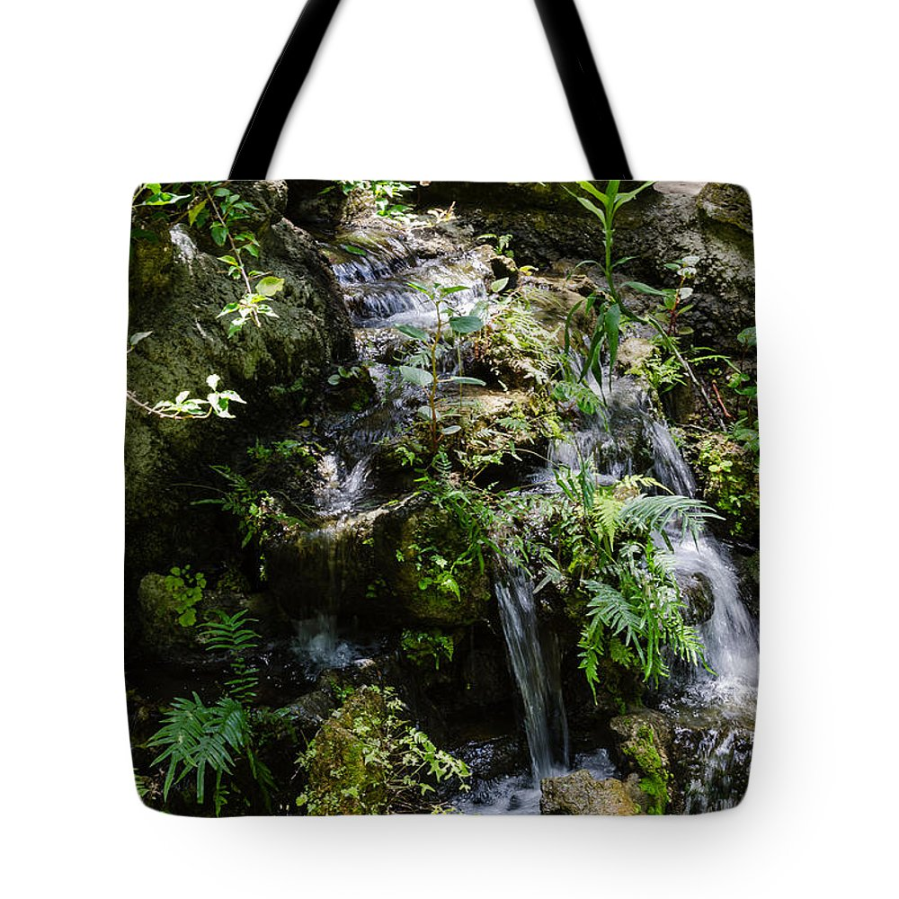 Nature Tote Bag featuring the photograph Waterfall by Karen Hart