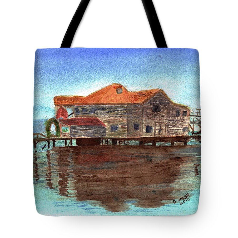 Water Tote Bag featuring the painting West End Roatan by Donna Walsh