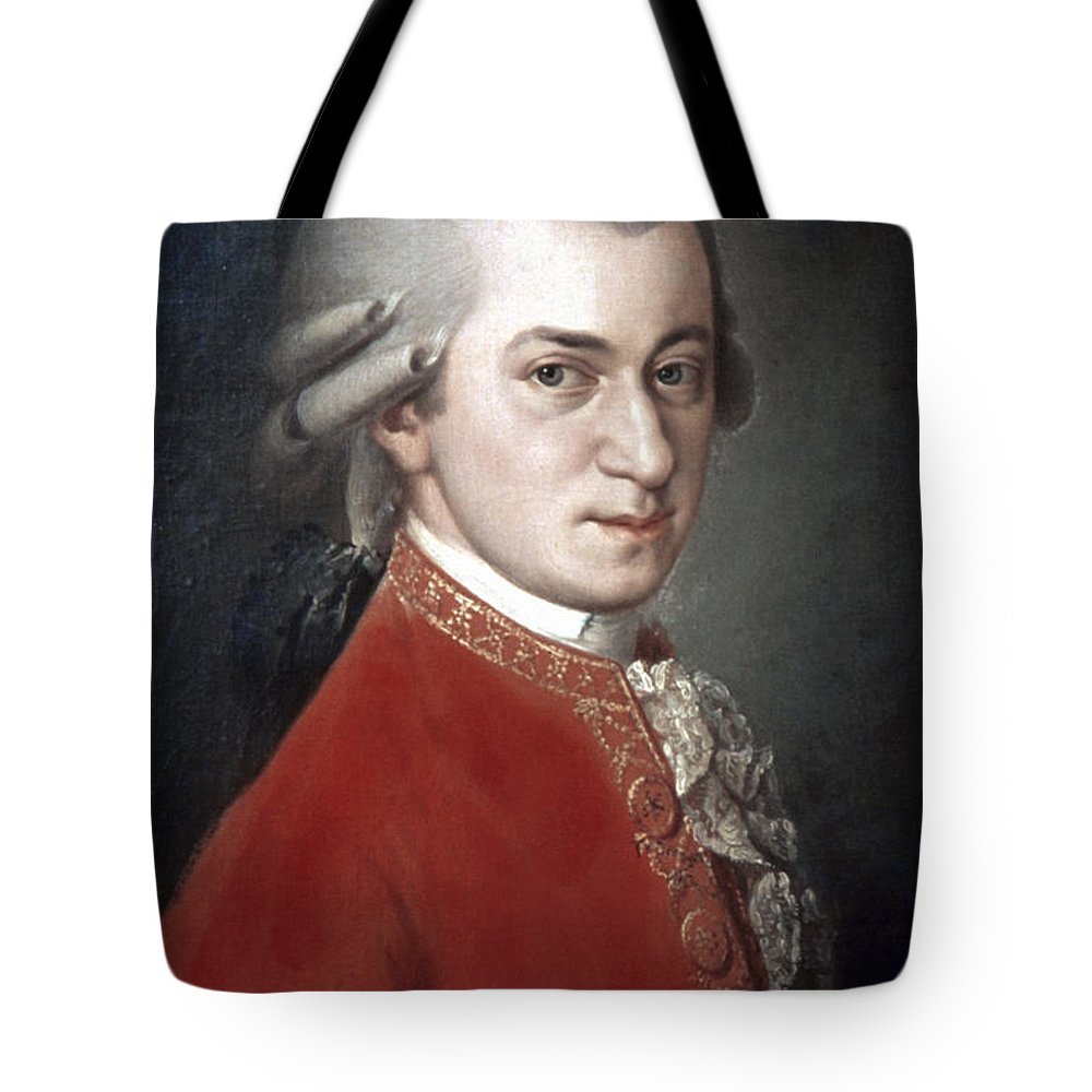 18th Century Tote Bag featuring the photograph Wolfgang Amadeus Mozart by Granger