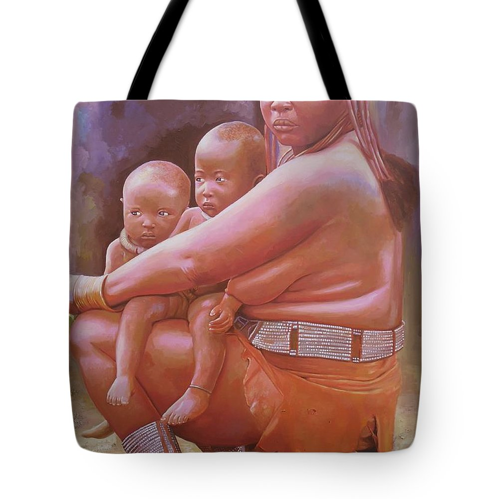Figurative Tote Bag featuring the painting Woman Of Substance by Cornelius Annor