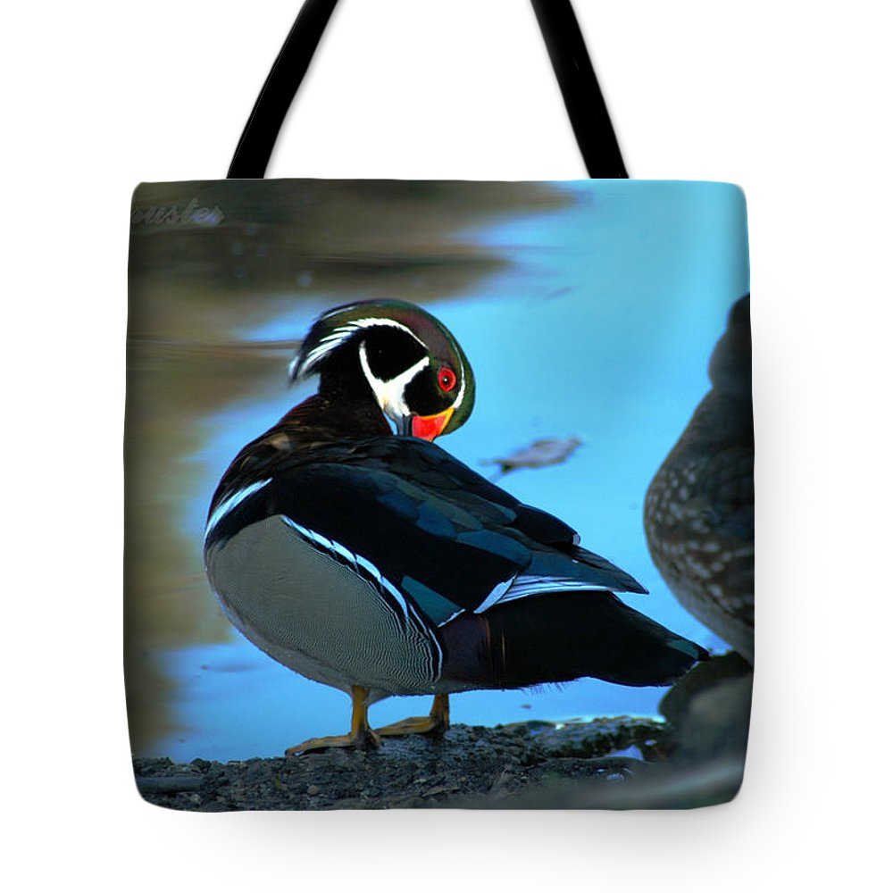 Clay Tote Bag featuring the photograph Wood Duck by Clayton Bruster