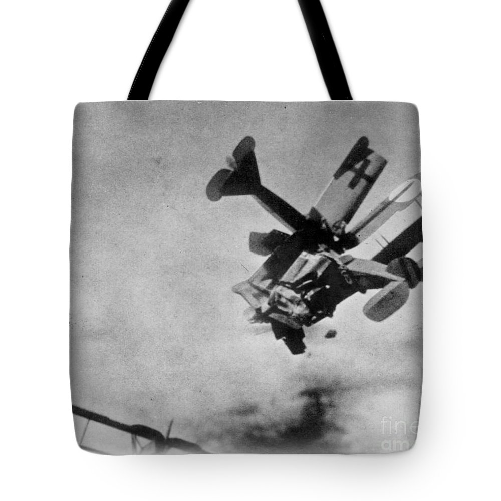 1910s Tote Bag featuring the photograph World War I: Aerial Combat by Granger