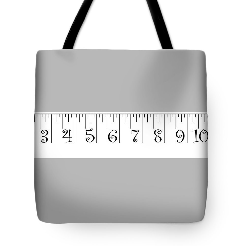 ruler tote bag featuring the photograph 2 x 12 foot ruler note print size may