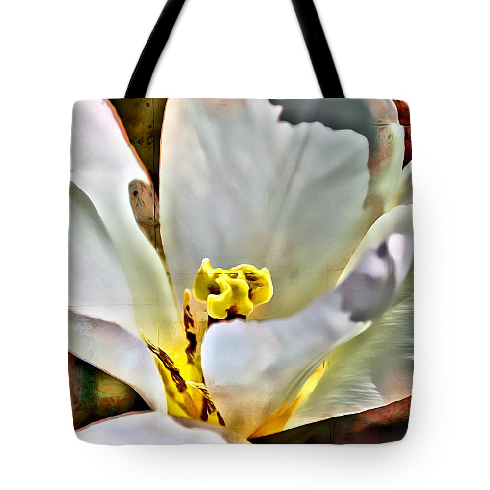 Flower Tote Bag featuring the photograph Yellow by Alice Gipson