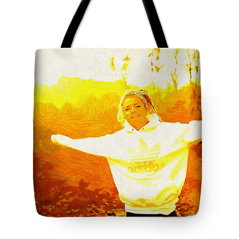 Mood Tote Bag featuring the digital art Mood by Lora Battle