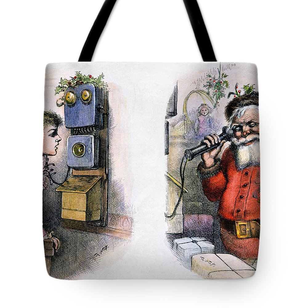 1884 Tote Bag featuring the photograph Thomas Nast: Santa Claus by Granger